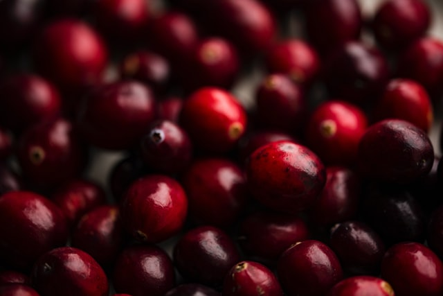 rich red cranberries